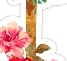Watercolor Rusty Anchor With Flowers #trending Sticker