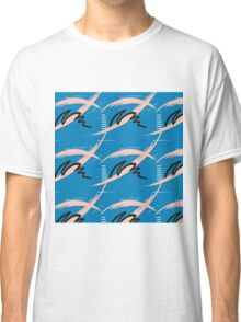 Blue brush pattern Classic T-Shirt