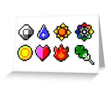 Kanto Gym Badges Greeting Card
