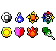 Kanto Gym Badges Photographic Print