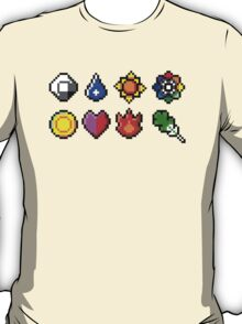 Kanto Gym Badges T-Shirt