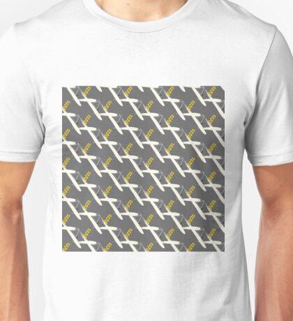 grey yellow brushstroke bg Unisex T-Shirt