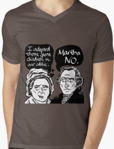 MARTHA NO Mens V-Neck T-Shirt