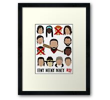 Negan - Eeny Meeny Miney Moe Framed Print