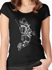 Gravity Black and white Women's Fitted Scoop T-Shirt