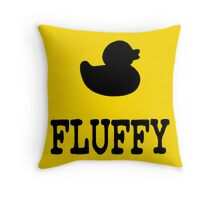 Fluffy Duck Throw Pillow