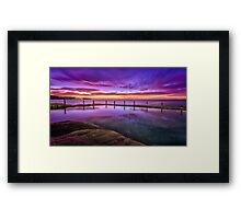 Stunning sunrise and reflections Framed Print