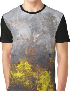 yellow grey abstraction Graphic T-Shirt