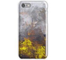 yellow grey abstraction iPhone Case/Skin