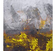 yellow grey abstraction Photographic Print
