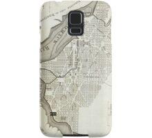 Vintage Map of Washington D.C. (1794) Samsung Galaxy Case/Skin