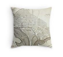 Vintage Map of Washington D.C. (1794) Throw Pillow