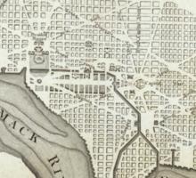 Vintage Map of Washington D.C. (1794) Sticker