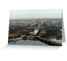 Washington DC Aerial Photograph  Greeting Card
