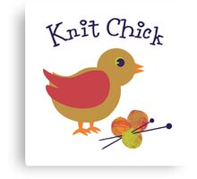 Knit Chick Canvas Print