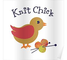 Knit Chick Poster