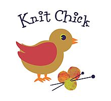 Knit Chick Photographic Print