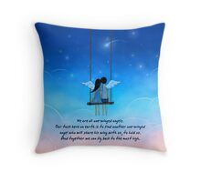 One-Winged Angel (Quote) Throw Pillow