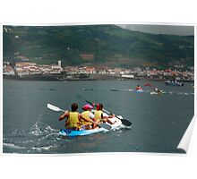Kayaking in Azores Poster