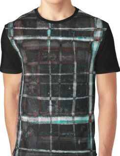 abstract  plaid cage Graphic T-Shirt