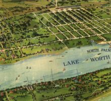 Vintage Pictorial Map of West Palm Beach (1915) Sticker