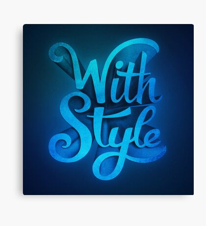 With Style! 3D Typography  Canvas Print