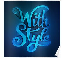 With Style! 3D Typography  Poster
