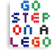 Go Step On A Lego Metal Print