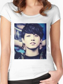 Jeon Jungkook Women's Fitted Scoop T-Shirt