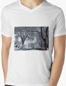 Winter Wonderland White House Mens V-Neck T-Shirt