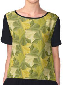 Ginkgo Leaf Tessellation Chiffon Top