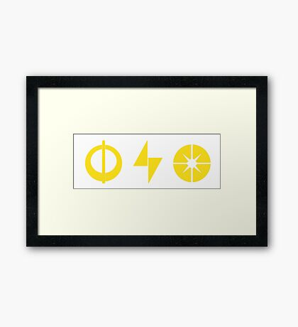 Star Wars Battlefront Xbox Playstation Powerups Yellow Framed Print