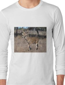 White Tail Deer Long Sleeve T-Shirt