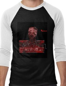 """""""Pop!"""" Goes the ZOMBIE! Norman (Mombie) Men's Baseball ¾ T-Shirt"""