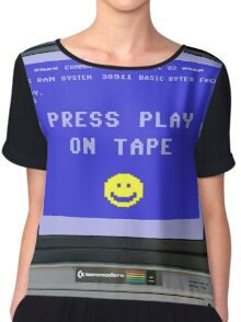 C64 - Press Play on Tape Chiffon Top