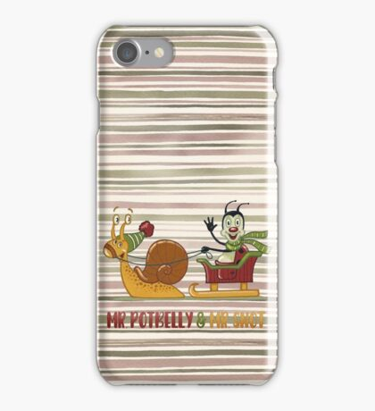 Winter greetings - series Mr. Potbelly and Mr. Snot iPhone Case/Skin