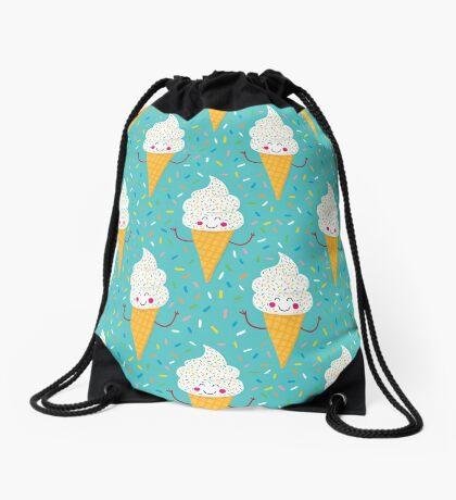 Ice Cream Party Drawstring Bag