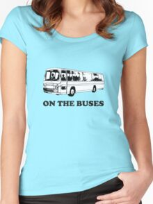 On the buses Women's Fitted Scoop T-Shirt