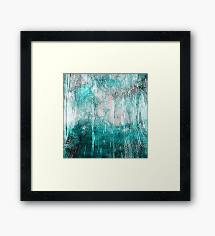 abstract  water Framed Print