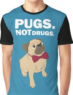 Pugs not drugs Graphic T-Shirt