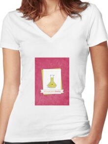 We've Got Great Chemistry Women's Fitted V-Neck T-Shirt