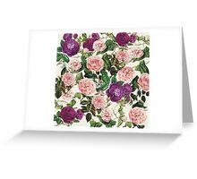 Floral Vintage Pattern Greeting Card