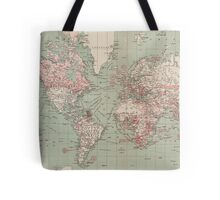 Vintage Map of The World (1918)  Tote Bag