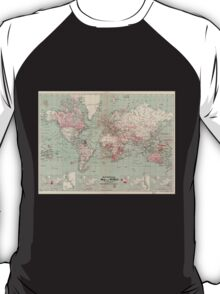 Vintage Map of The World (1918)  T-Shirt