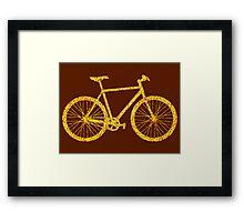 Fixie Bike Bling Framed Print