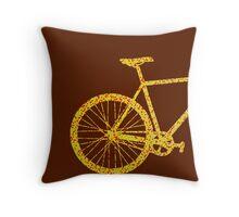 Fixie Bike Bling Throw Pillow