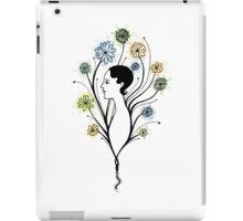 """Flora"", floral art, girl's profile, flowers, ink &  watercolor iPad Case/Skin"