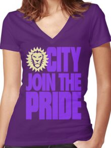 Join The Pride Women's Fitted V-Neck T-Shirt