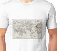 Vintage World Telegraph Lines Map (1855) Unisex T-Shirt