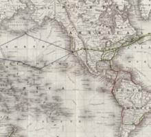 Vintage World Telegraph Lines Map (1855) Sticker